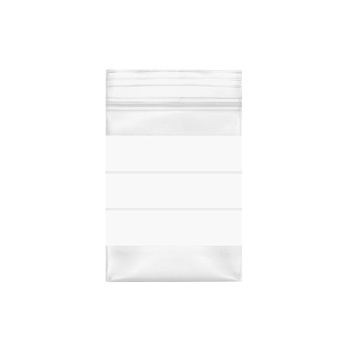 "300 Pcs Zip Lock Plastic Bags Writable Reclosable Disposable Clear 2.7""X2"" 8 MIL"