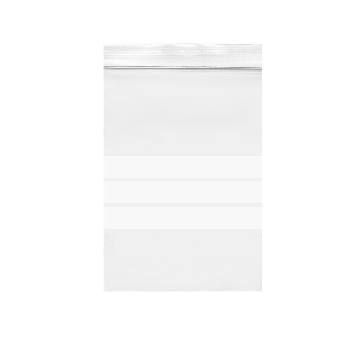 "100 Pcs Zip Lock Plastic Bags Writable Reclosable Disposable Clear 5""X3.5"" 8 MIL"