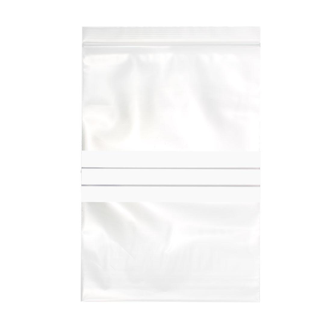 "50 Pcs Zip Lock Plastic Bags Writable Reclosable Disposable Clear 8.5""X6"" 8 MIL"