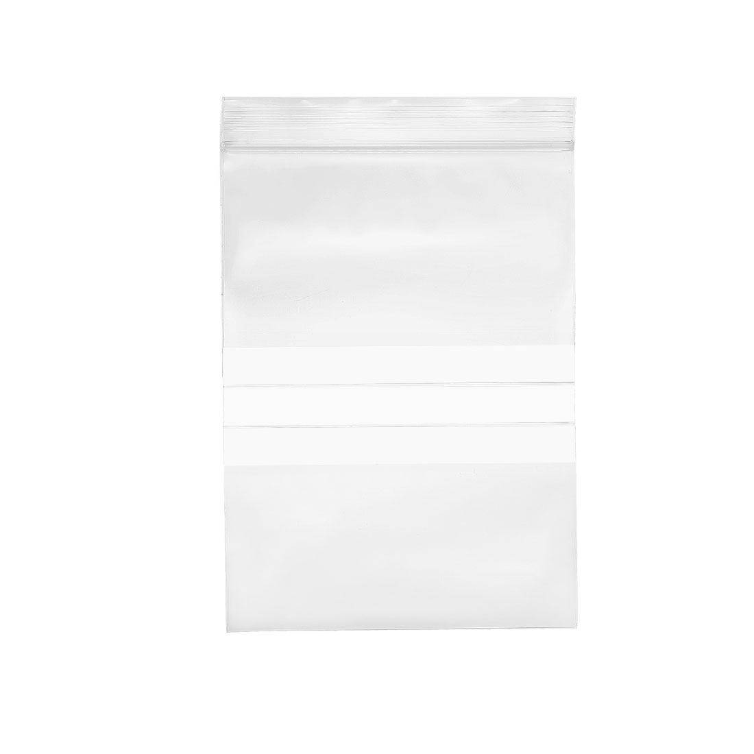 "33 Pcs Zip Lock Plastic Bags Writable Reclosable Disposable Clear 7""X4.7"" 8 MIL"