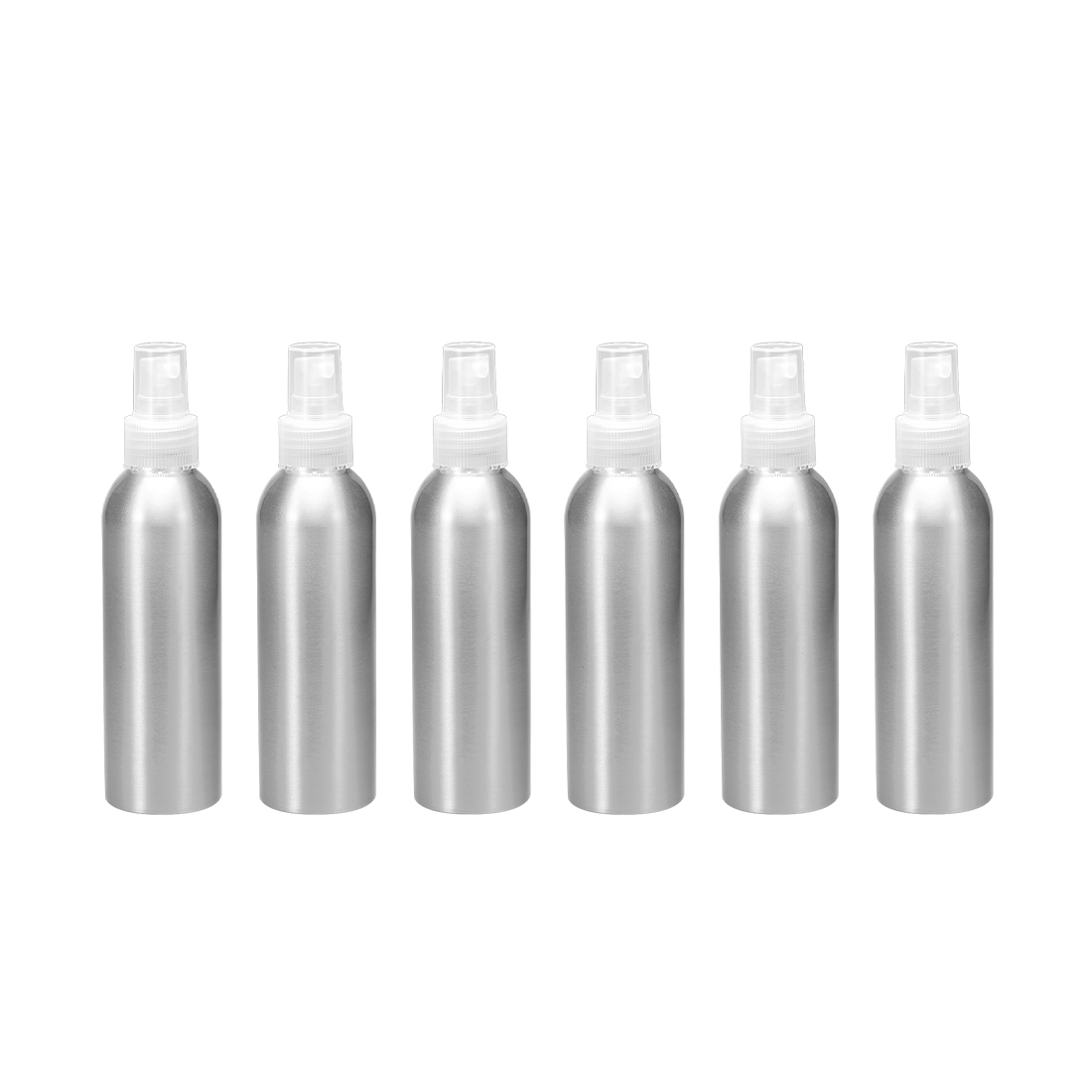 6pcs 5oz/150ml Aluminium Spray Bottle with Clear Sprayer, Refillable Container