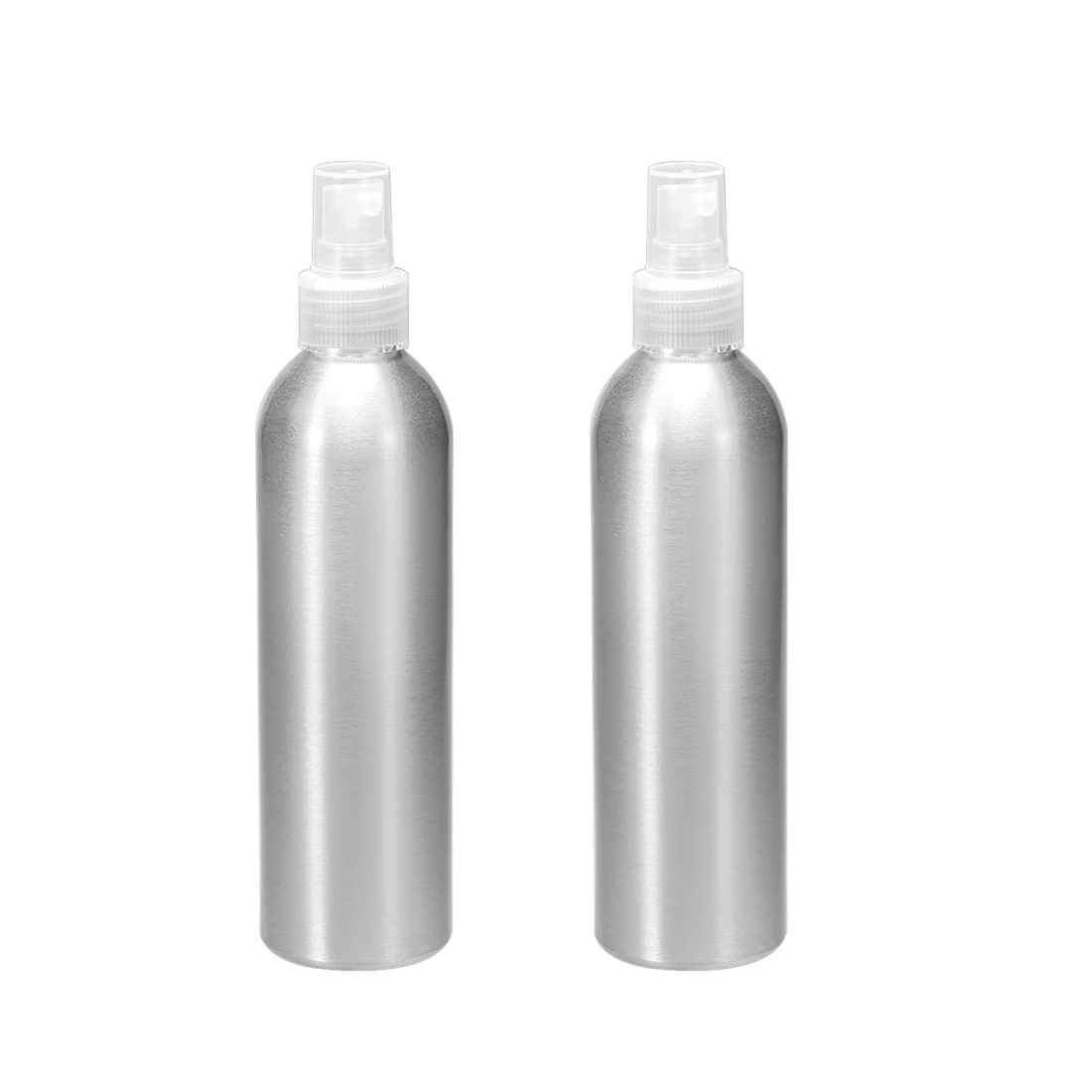 2pcs 8.5oz/250ml Aluminium Spray Bottle with Clear Sprayer, Refillable Container