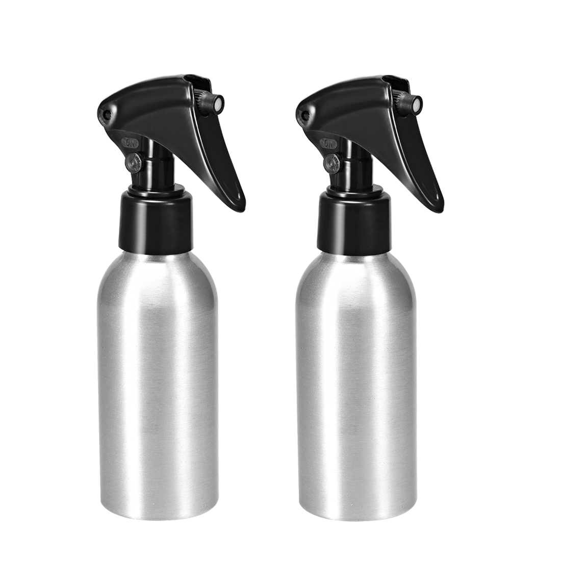 2pcs 3oz/100ml Aluminium Spray Bottle with Sprayer, Empty Refillable Container