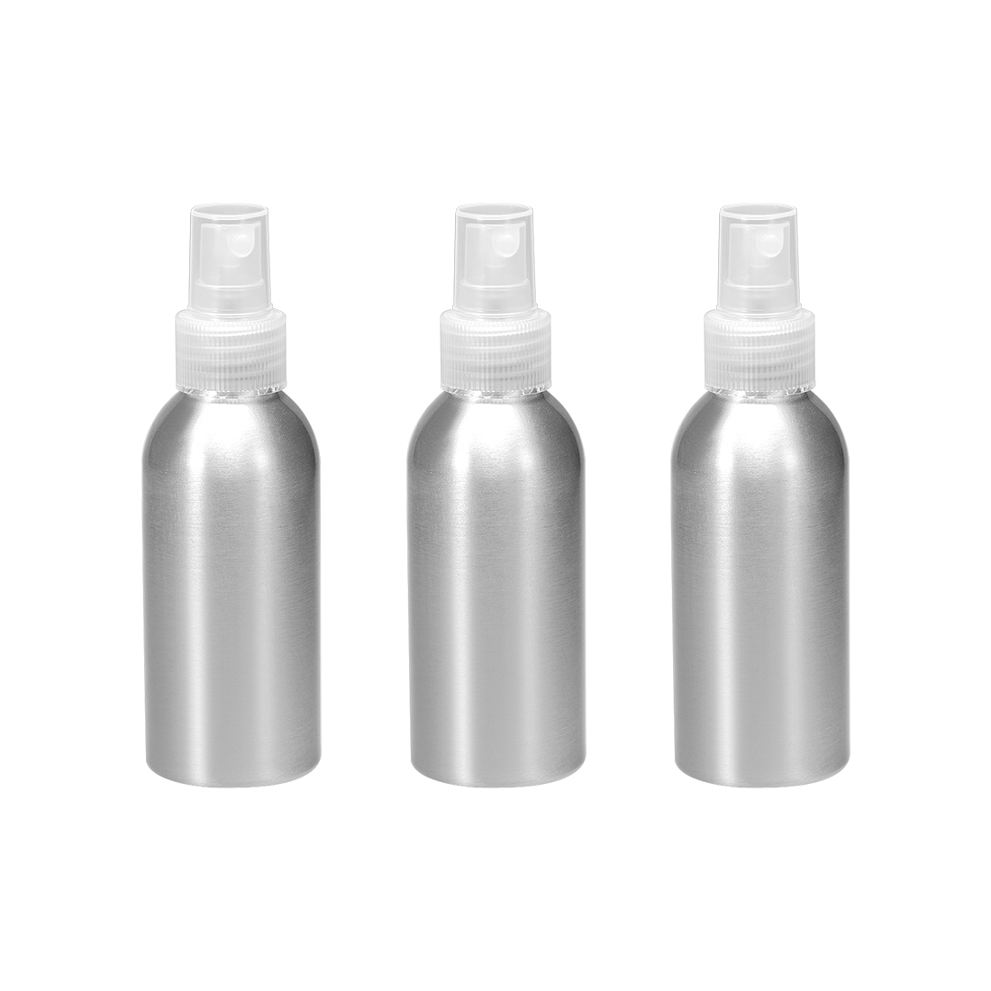 3pcs 3oz/100ml Aluminium Spray Bottle with Clear Sprayer Refillable Container