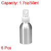 6pcs 1.7oz/50ml Aluminium Spray Bottle with Clear Sprayer, Refillable Container