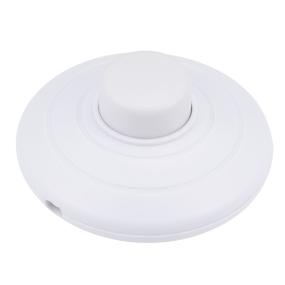 Inline Foot Pedal Push Button Switch Round Lamp Light Foot Control white