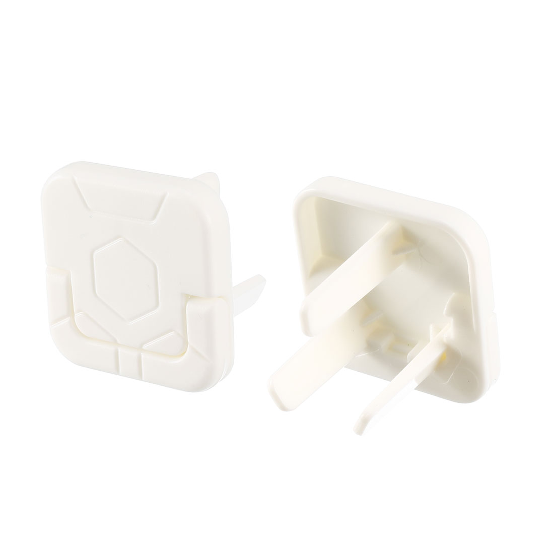 AU Standard 3 Prong Power Socket Covers Durable Electric Proofing White 55 Pcs