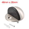 Door Stopper, Zinc Alloy Stop, Holder Wall Protector for Hotel Home, Silver Tone