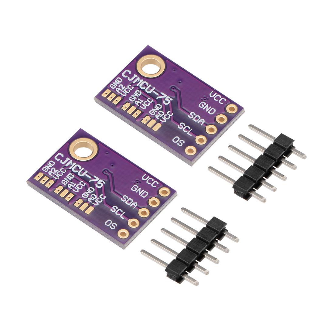LM75A Pressure Temperature Sensor Module Digital Breakout Sensor IIC I2c 2 Pcs