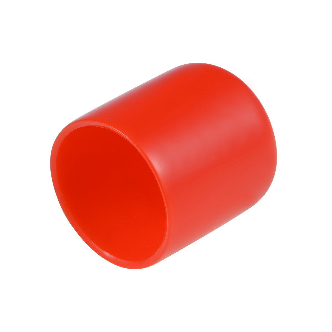 Screw Thread Protector, 29mm ID Round End Cap Cover Red Tube Caps 10pcs