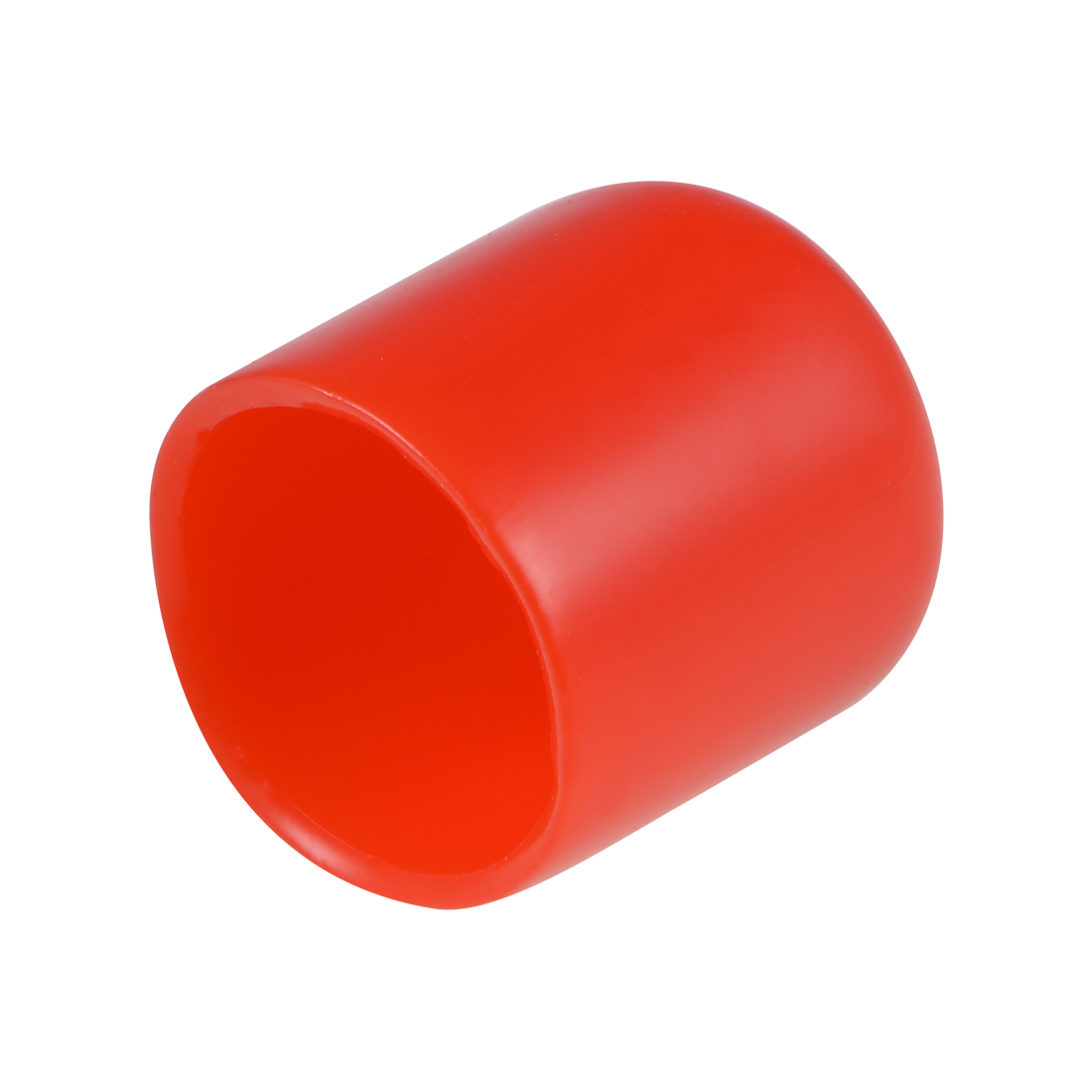 Screw Thread Protector, 15mm ID Round End Cap Cover Red Tube Caps 10pcs