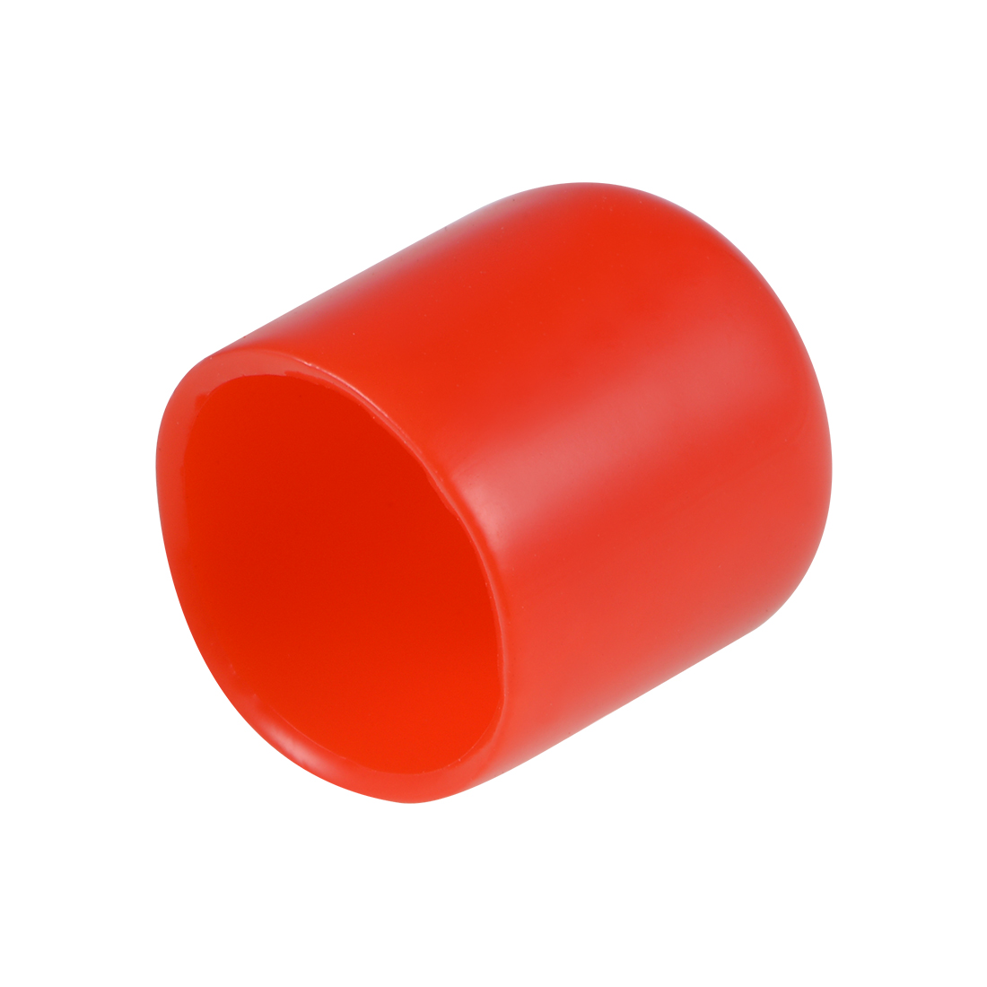 Screw Thread Protector, 16mm ID Round End Cap Cover Red Tube Caps 10pcs