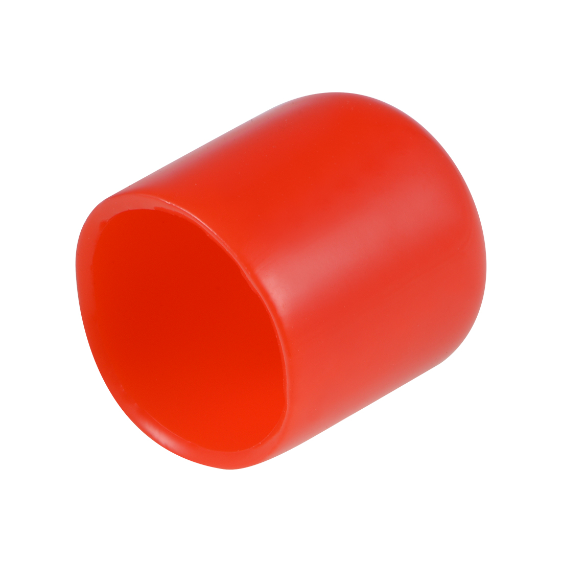 Screw Thread Protector, 16mm ID Round End Cap Cover Red Tube Caps 20pcs