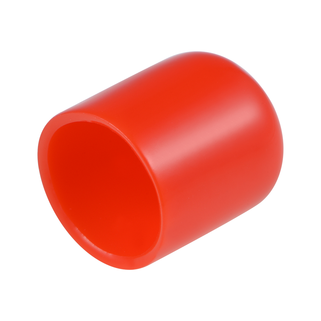Screw Thread Protector, 18mm ID Round End Cap Cover Red Tube Caps 20pcs
