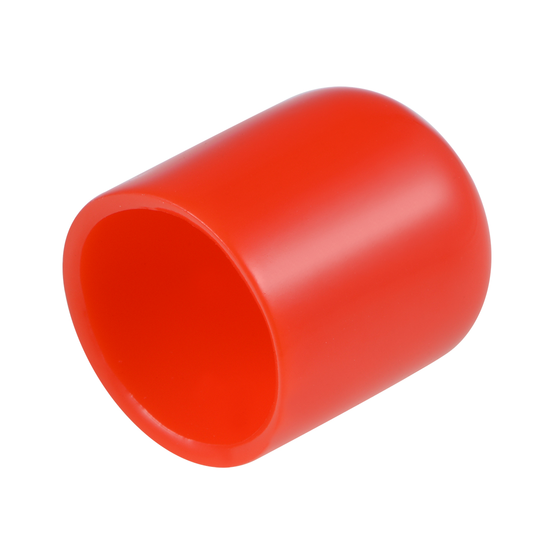 Screw Thread Protector, 19mm ID Round End Cap Cover Red Tube Caps 20pcs
