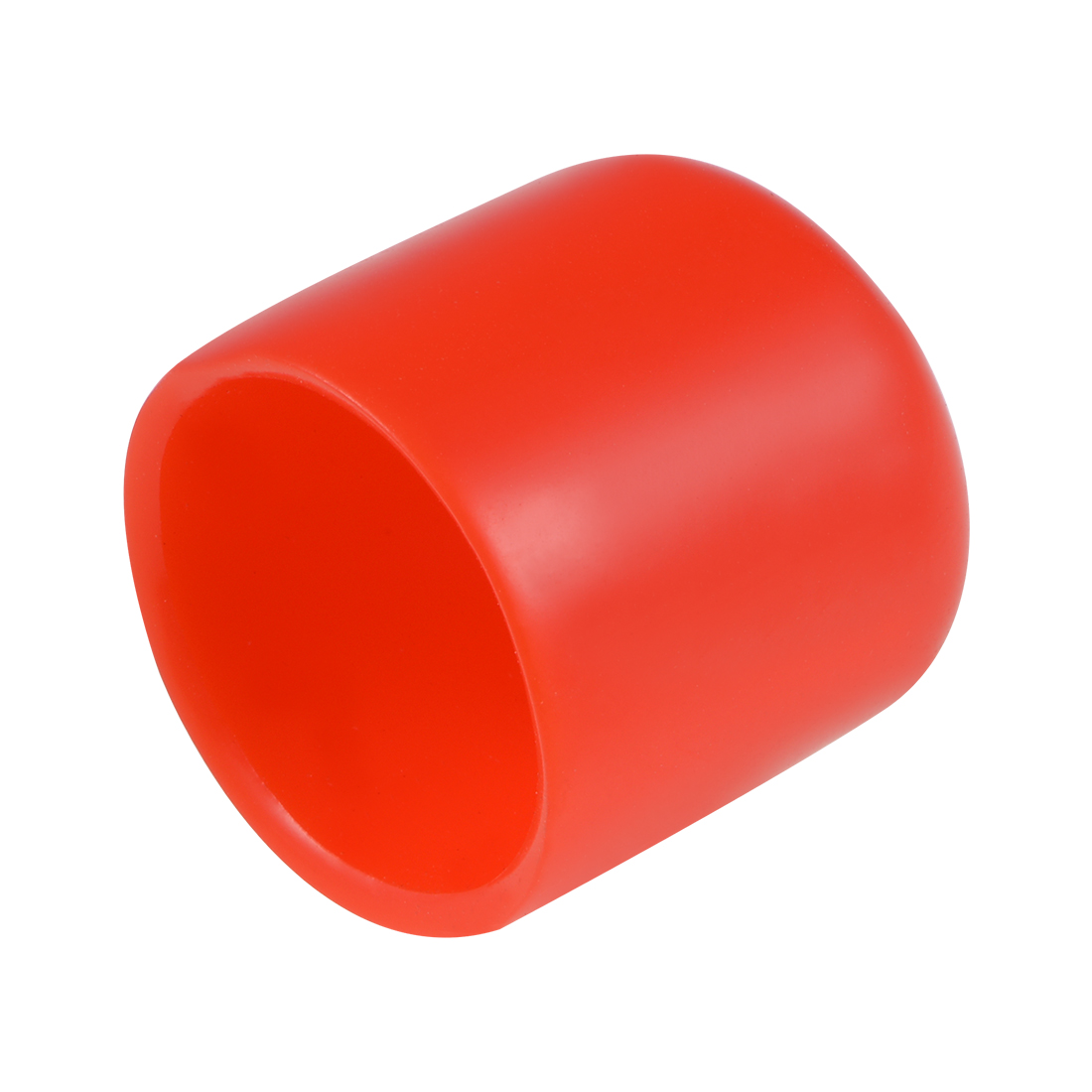Screw Thread Protector, 21mm ID Round End Cap Cover Red Tube Caps 10pcs