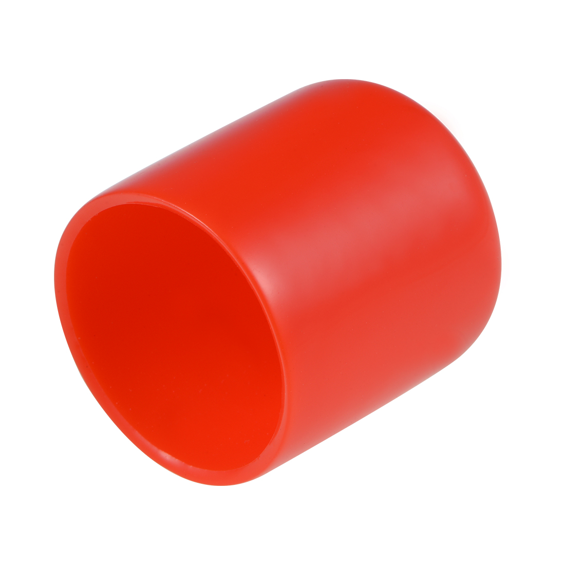 Screw Thread Protector, 27mm ID Round End Cap Cover Red Tube Caps 10pcs