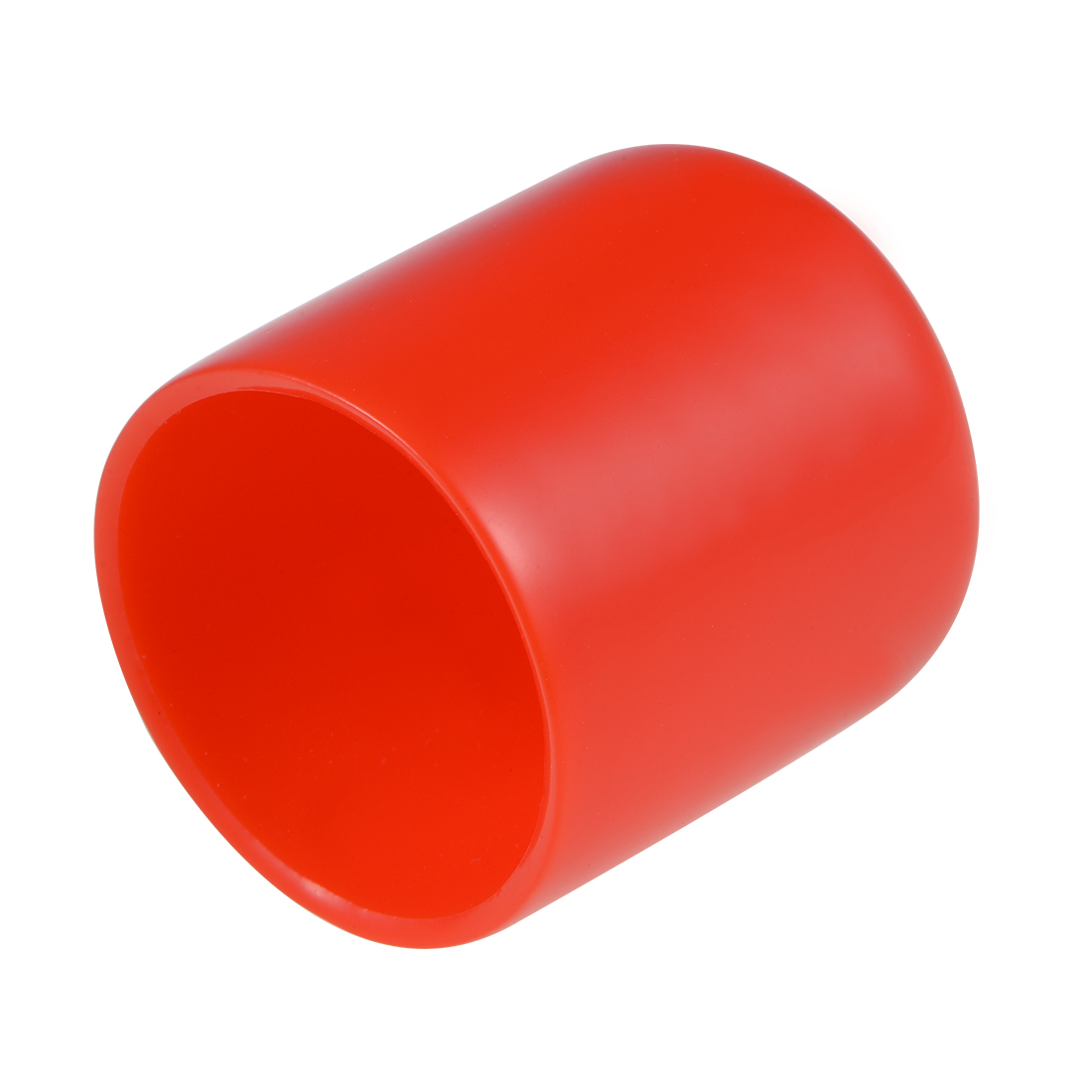 Screw Thread Protector, 28mm ID Round End Cap Cover Red Tube Caps 10pcs