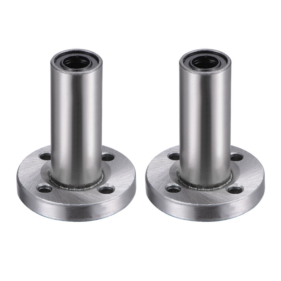 6mm Linear Ball Bearings Round Flange LMF6LUU 6mm Bore 12mm OD 35mm Length 2pcs
