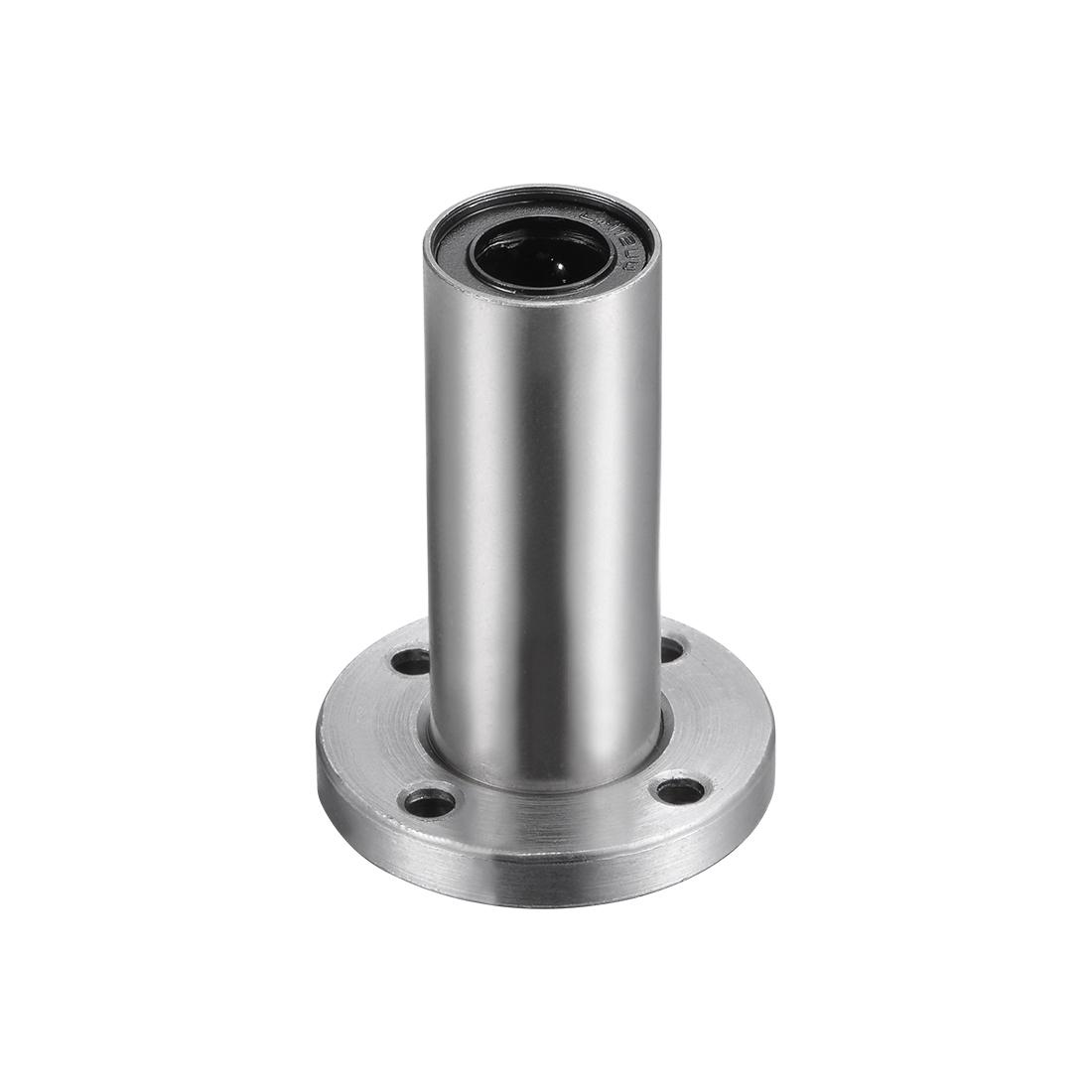 12mm Linear Ball Bearings Round Flange LMF12LUU, 12mm Bore, 21mm OD, 57mm Length
