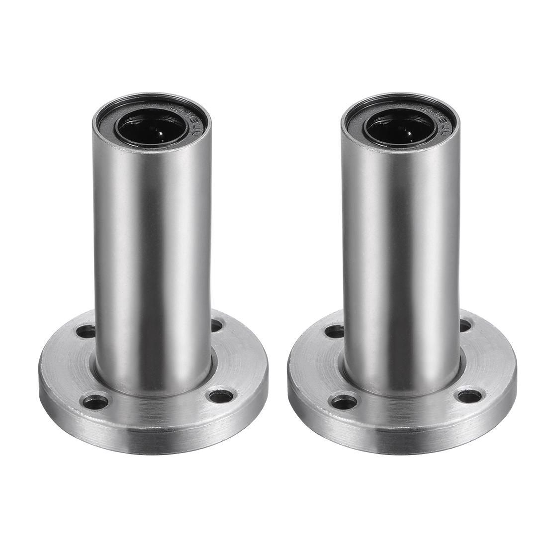 12mm Linear Ball Bearings Round Flange LMF12LUU 12mm Bore 21mm OD 57mm Long 2pcs