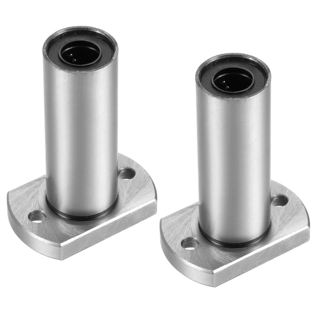 12mm Linear Ball Bearings Two Side Cut Flange LMH12LUU 12mm Bore 57mm Long 2pcs
