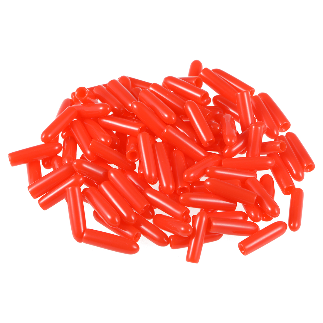 Screw Thread Protectors, 2mm ID 14.5mm Length Round End Cap Cover Red 100pcs