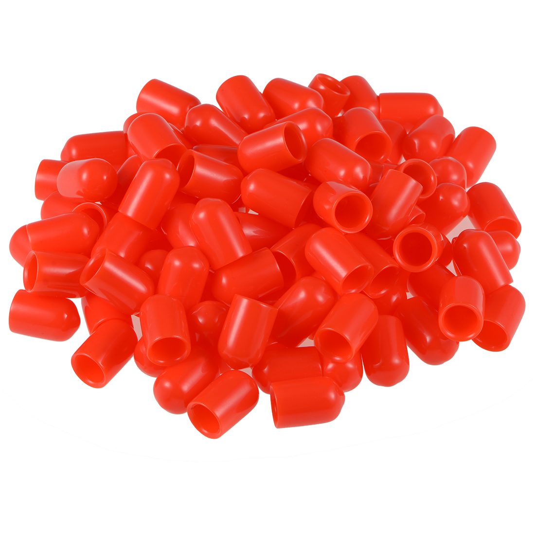 Screw Thread Protectors, 8.5mm ID 15mm Length Round End Cap Cover Red 100pcs
