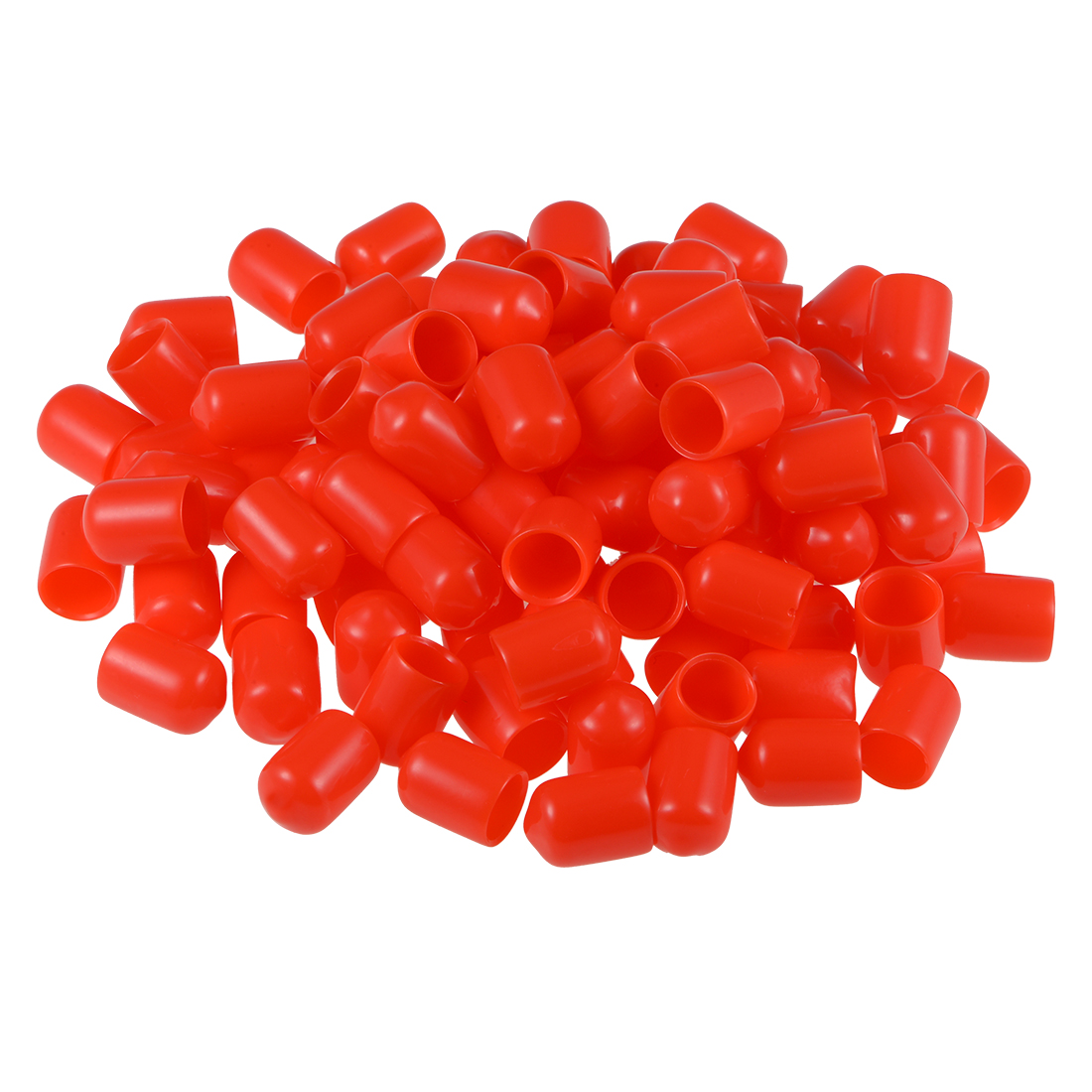 "Screw Thread Protectors, 3/8"" ID 15mm Length Round End Cap Cover Red 100pcs"