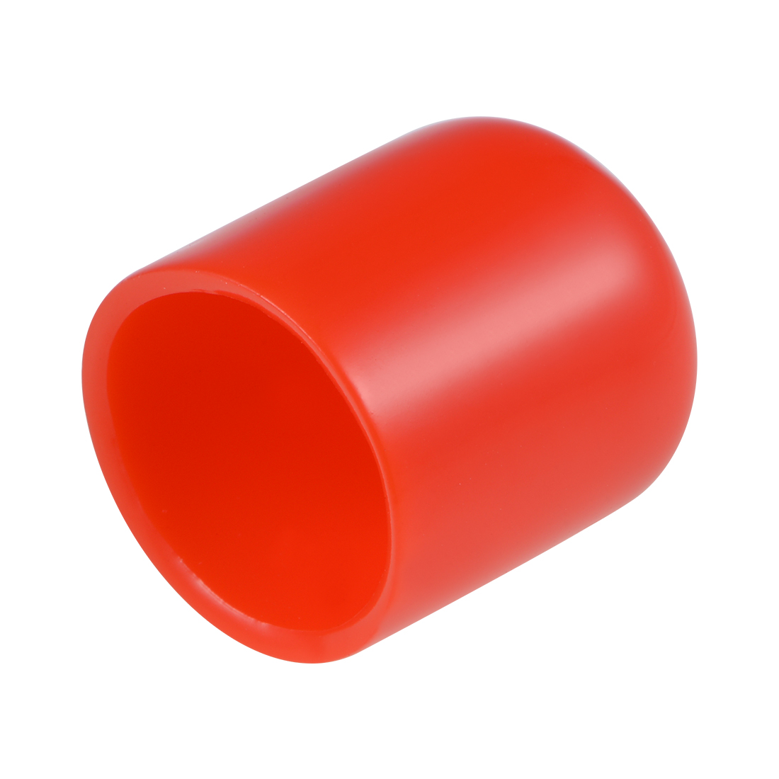 Screw Thread Protectors, 18mm ID 25mm Length Round End Cap Cover Red 20pcs