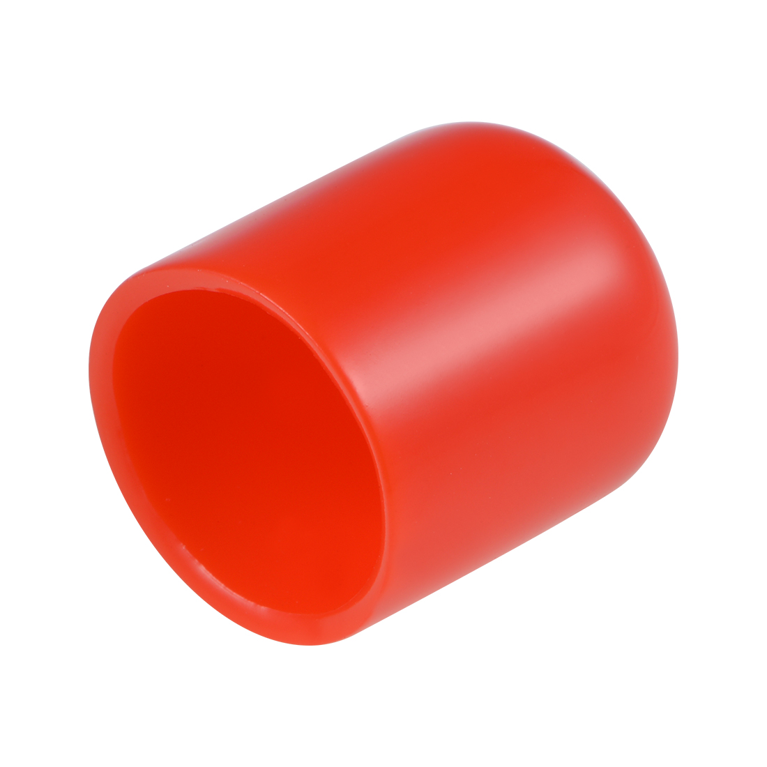 Screw Thread Protectors, 19mm ID 26mm Length Round End Cap Cover Red 20pcs