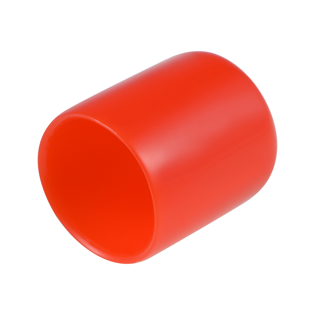 Screw Thread Protectors, 20mm ID 28mm Length Round End Cap Cover Red 10pcs