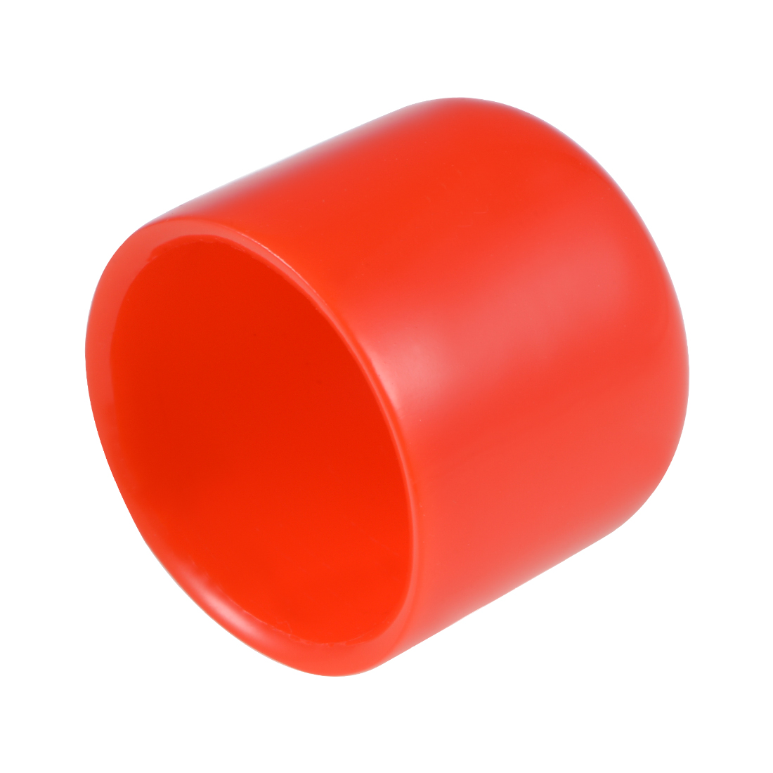 Screw Thread Protectors, 22mm ID 28mm Length Round End Cap Cover Red 10pcs