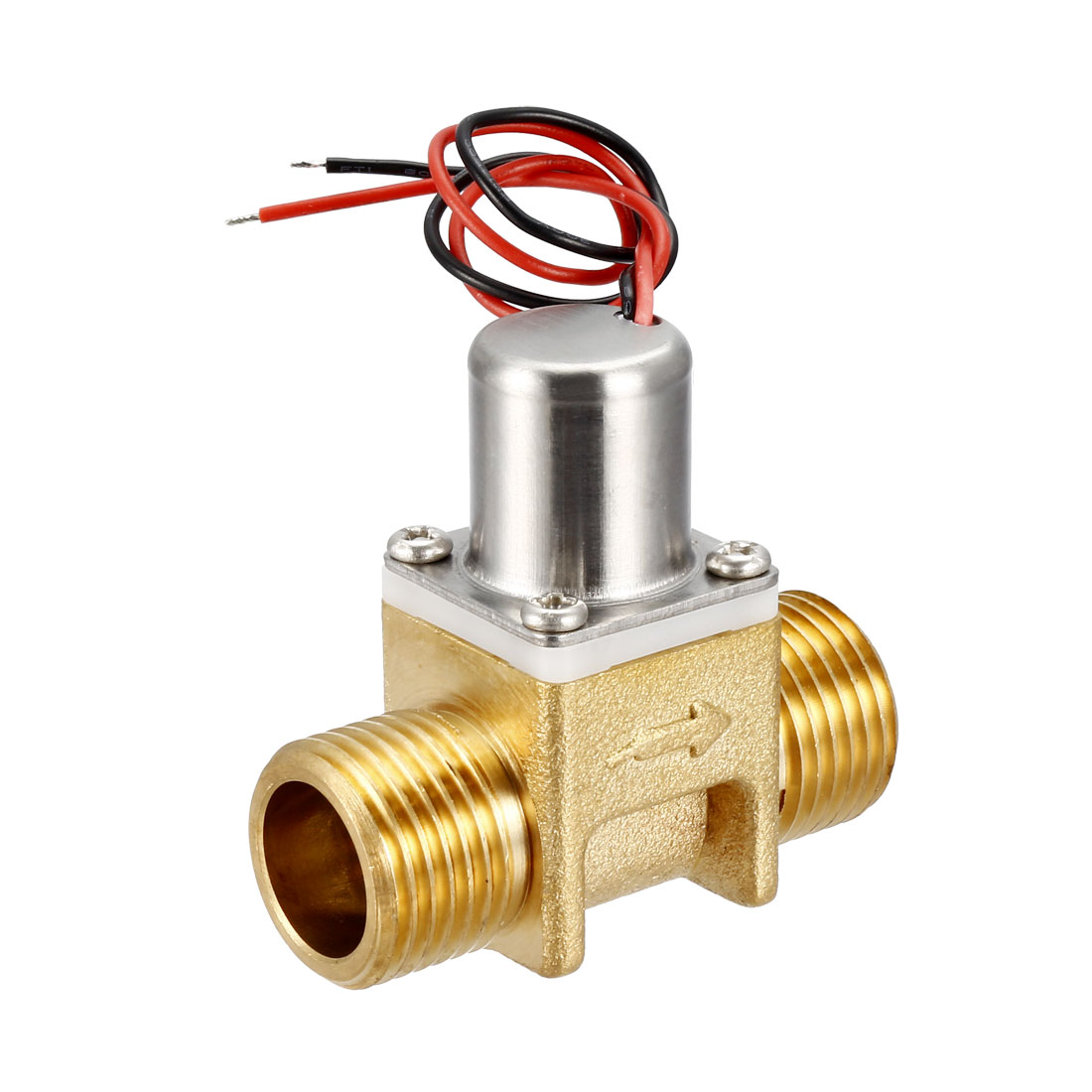Pulse Solenoid Valve G1/2 DC3.6V Copper Male Thread Valves with Filter