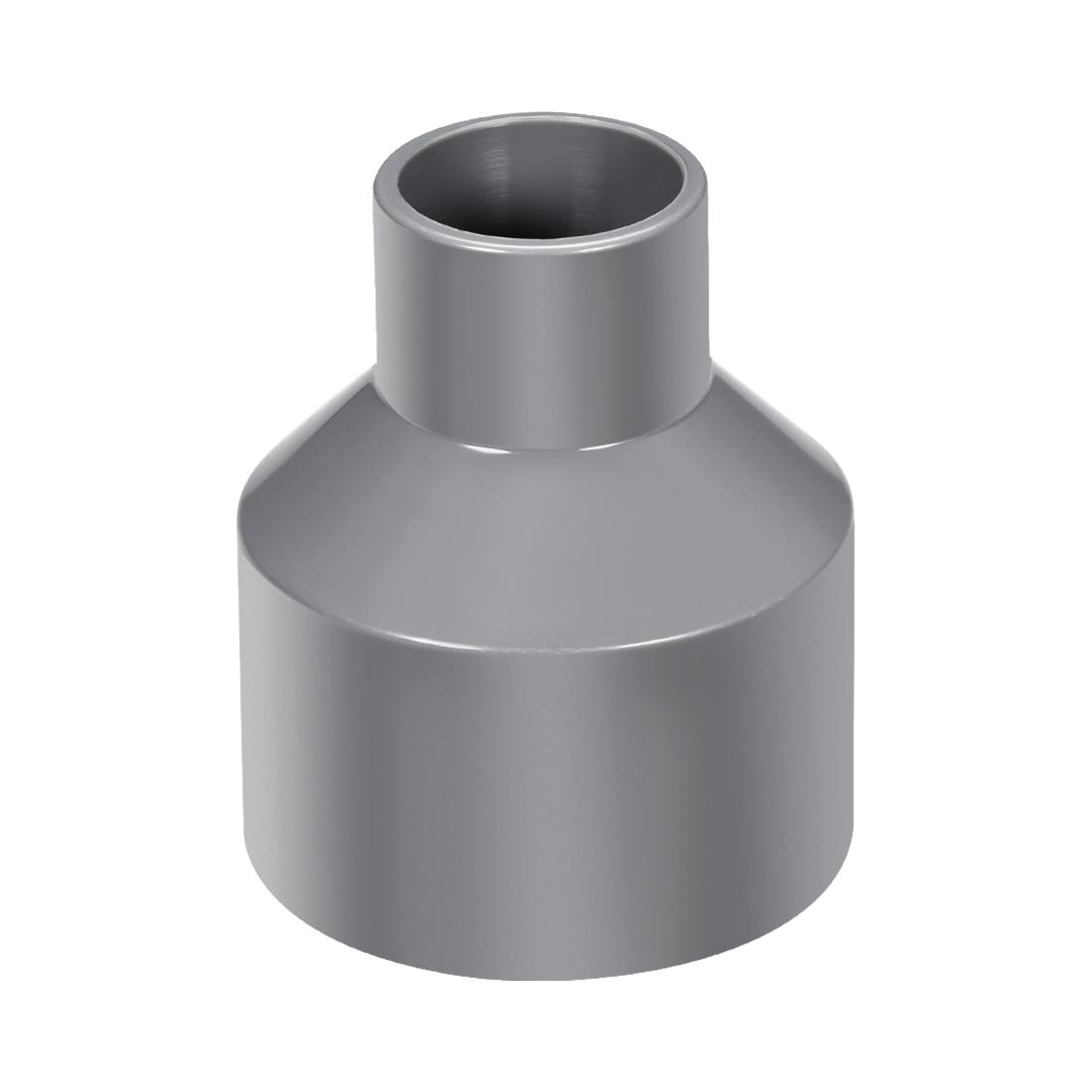 63mm x 32mm PVC Reducing Coupling Hub by Hub, DWV Pipe Fittings Gray