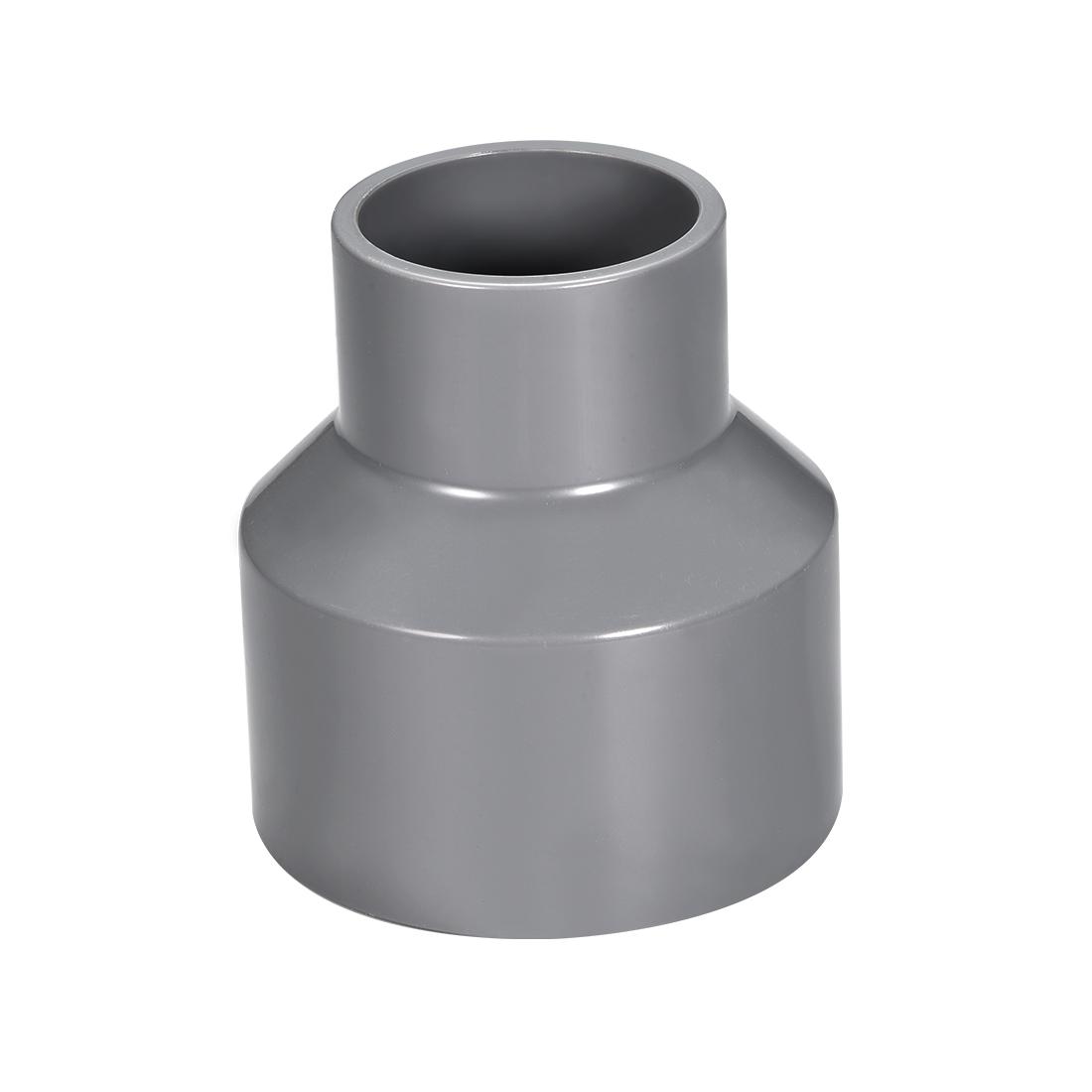 63mm x 40mm PVC Reducing Coupling Hub by Hub, DWV Pipe Fittings Gray