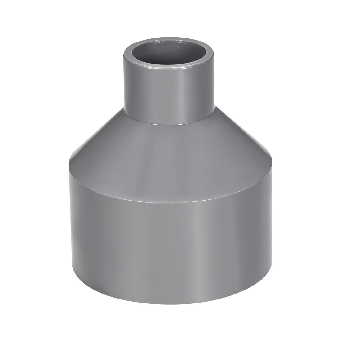 75mm x 32mm PVC Reducing Coupling Hub by Hub, DWV Pipe Fittings Gray