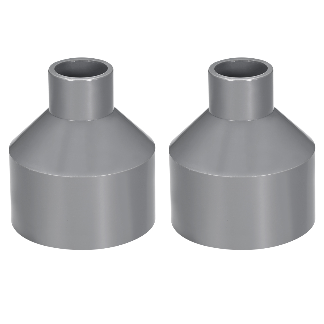 75mm x 32mm PVC Reducing Coupling Hub by Hub, DWV Pipe Fitting, Gray 2Pcs