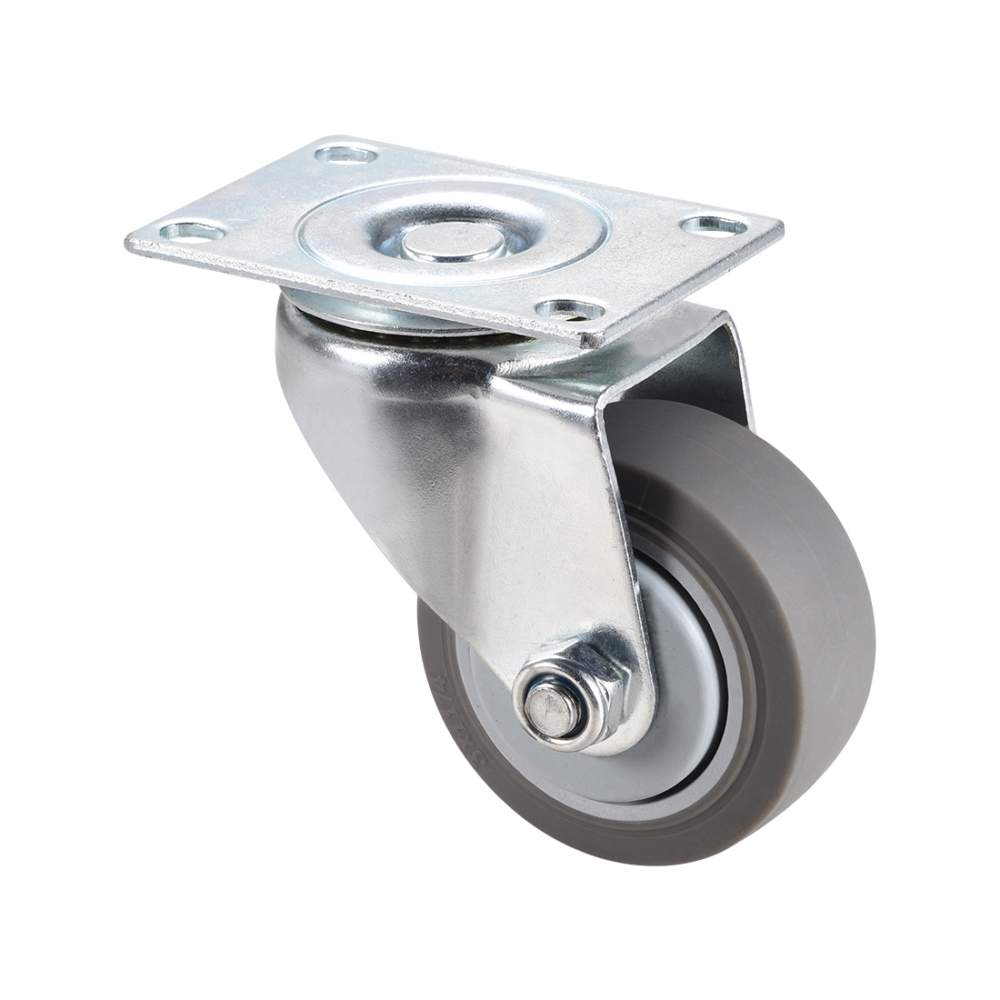 Swivel Caster Wheels 3inch TPR Caster 360 Degree Rotate Top Plate 220lb Capacity