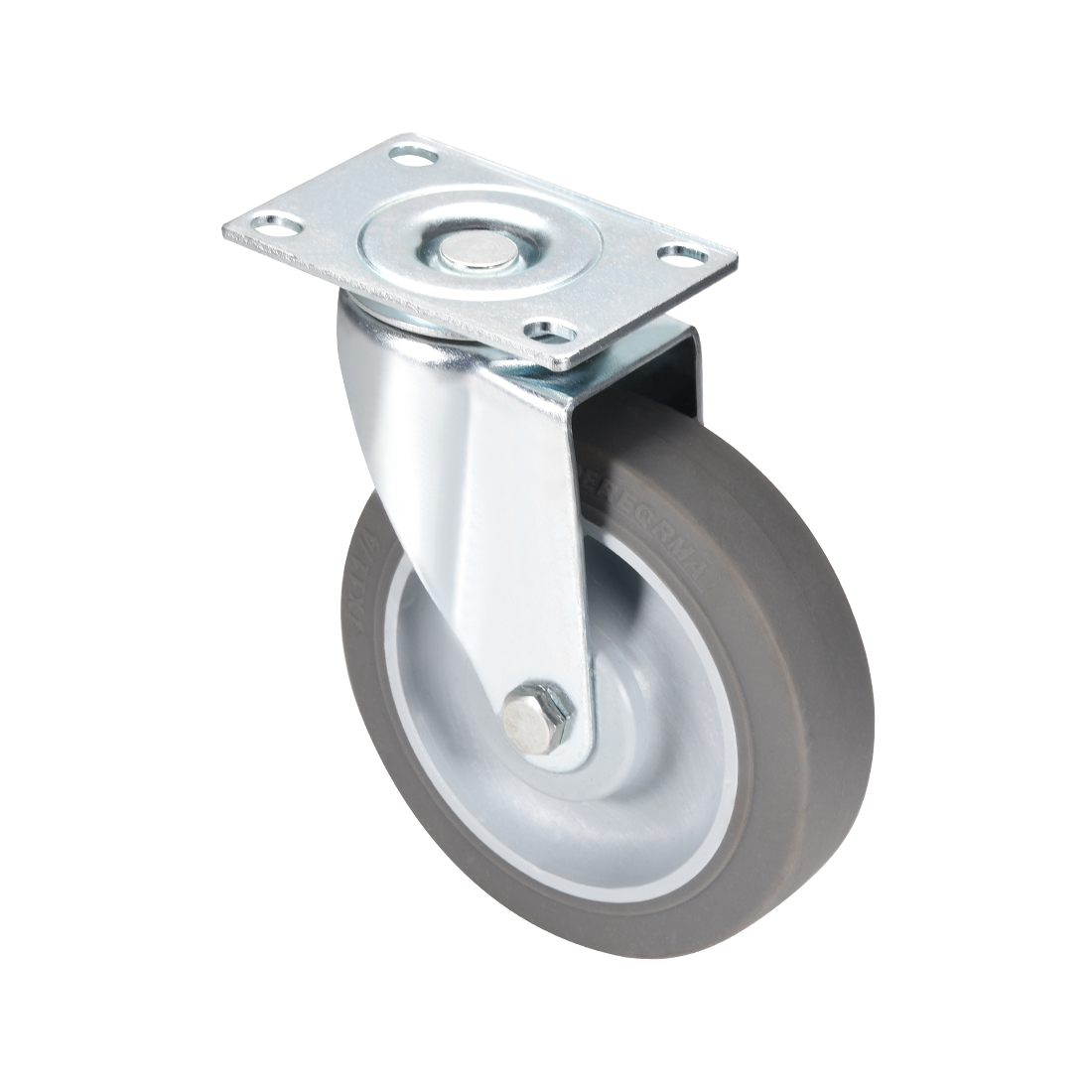 Swivel Caster Wheels 4inch TPR Caster Top Plate Mounted 242lb Capacity