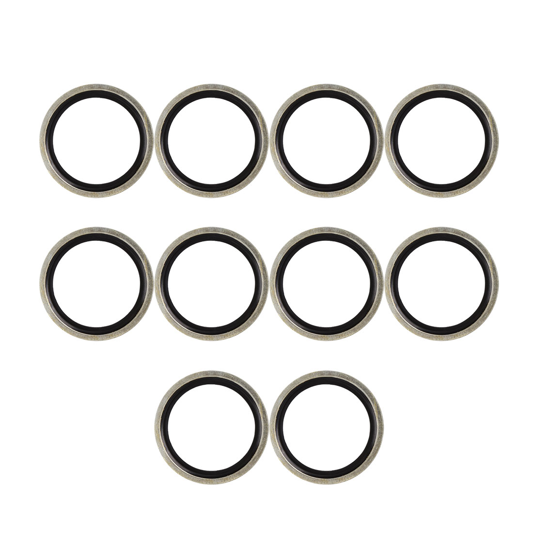 10pcs 40 x 52 x 3mm Engine Oil Drain Crush Flat Bonded Washer Seal Gaskets