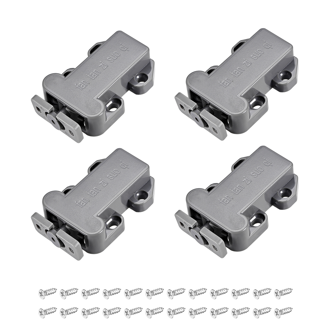 Push Open Latch Rebound Self-Locking Door Touch Catch Lock 4pcs