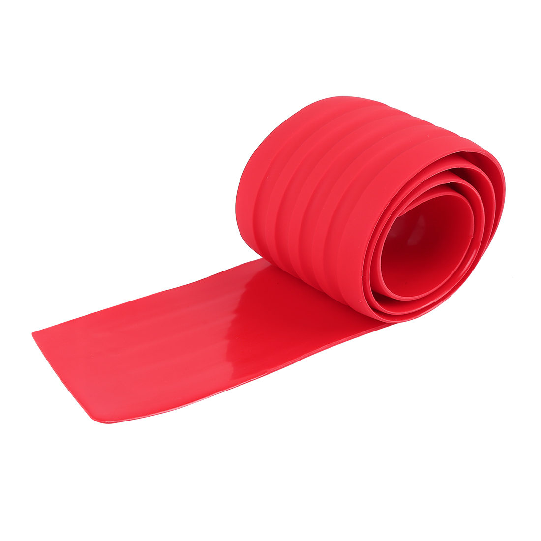 Car Rear Bumper Protector Rubber Cover Guard Trim Protective Strip 90 x 8cm Red