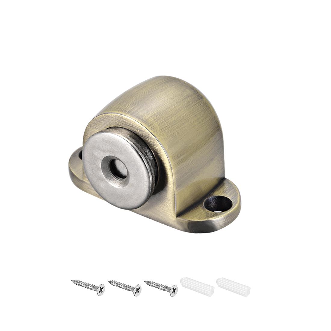 Magnetic Door Stop Catch Brushed Door Stopper Floor Mount Zinc Alloy Bronze Tone