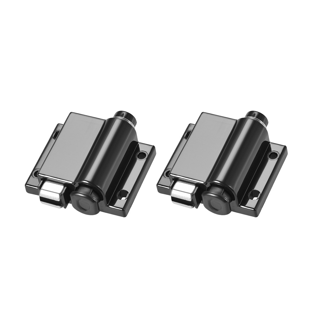 Touch Magnetic Latches Press Catch Latch for Cabinet Door Cupboard Black 2pcs
