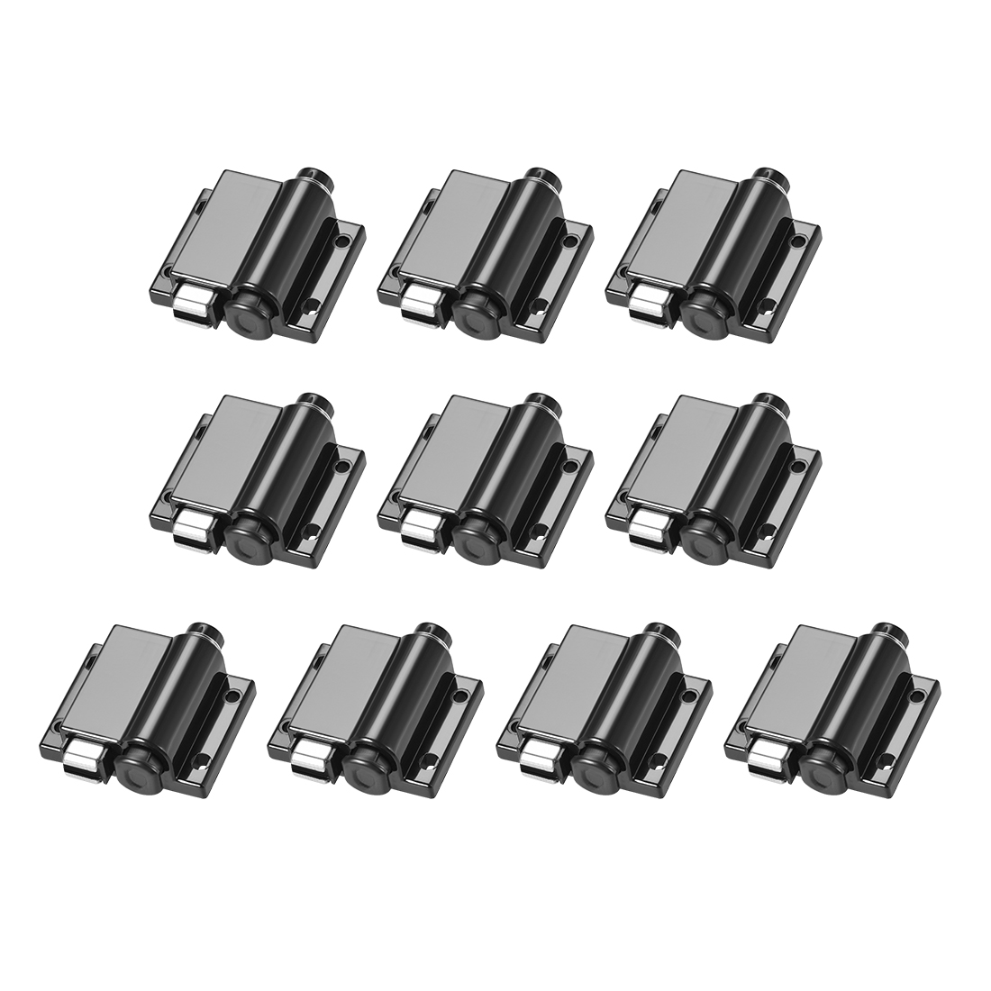 Touch Magnetic Latches Catch Latch for Cabinet Door Cupboard Black 10pcs