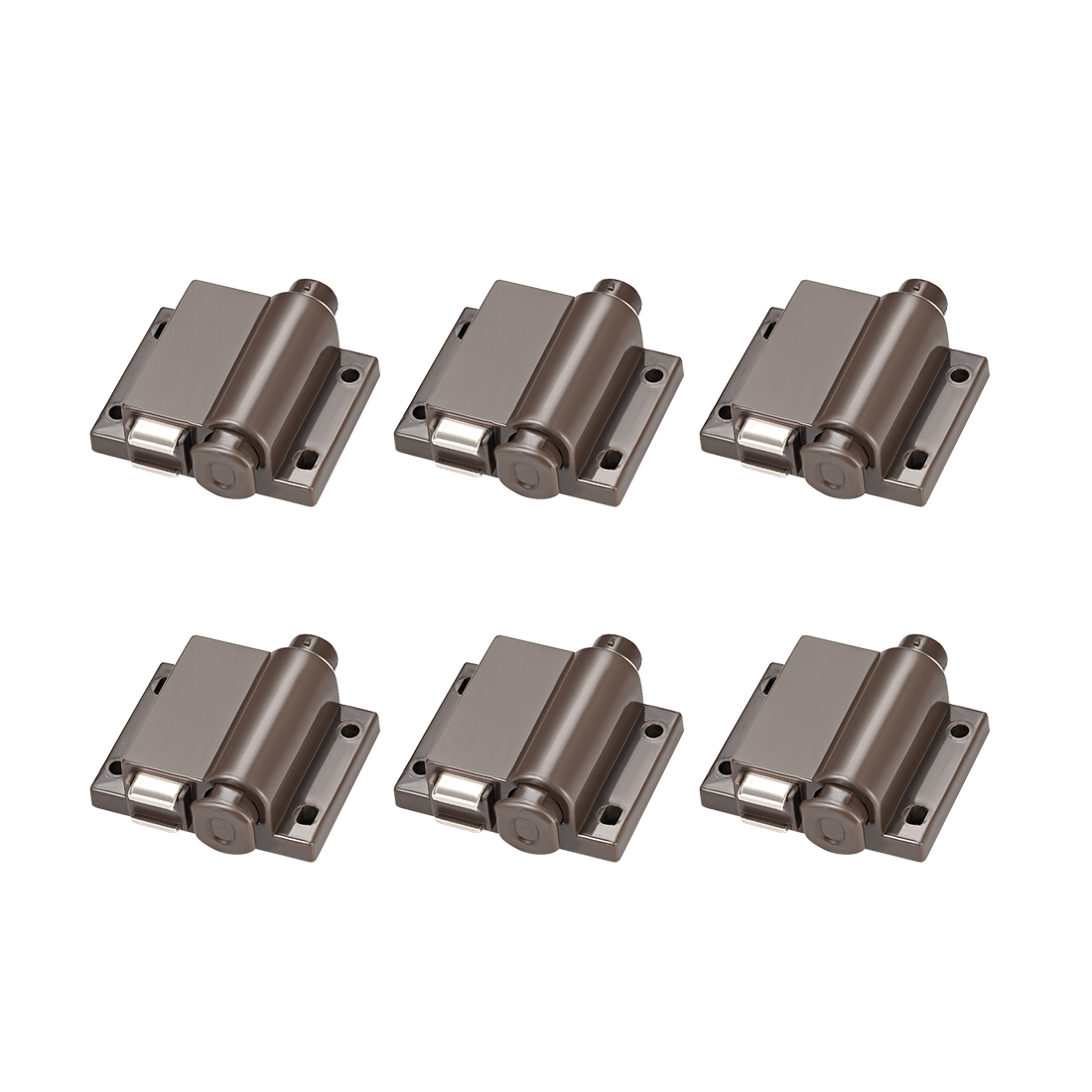 Touch Magnetic Latches Press Catch Latch for Cabinet Door Cupboard Coffee 6pcs