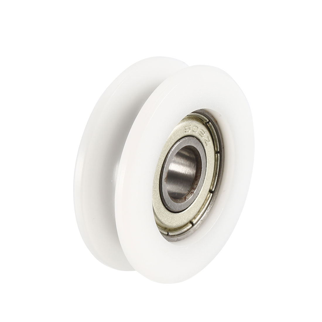 V Groove Guide Bearing Pulley Rail Ball Wheel White 8x34x11mm 4pcs