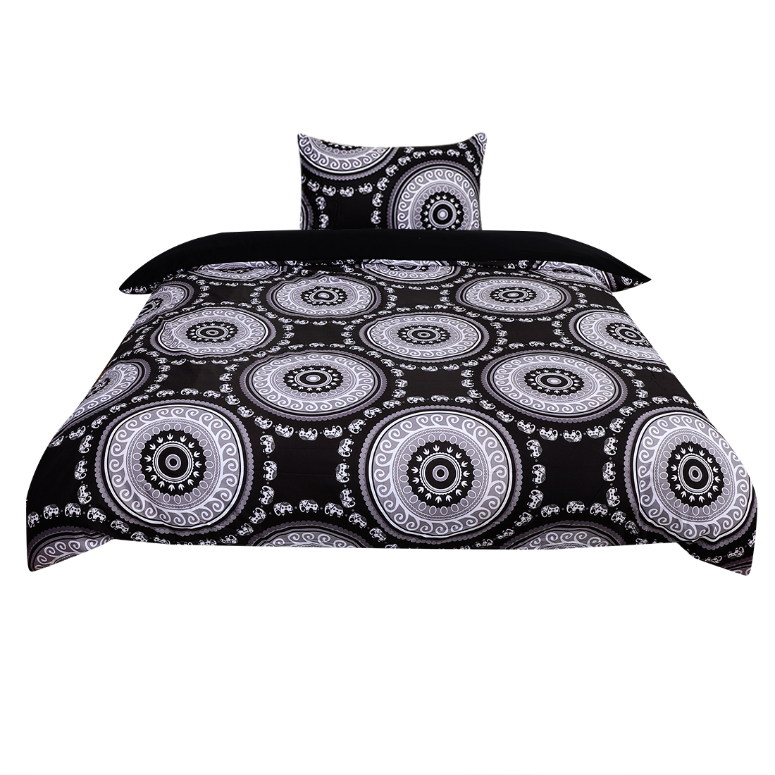 Twin All-season Duvet Cover Sets Bohemian Black, with 1 Pillow Case