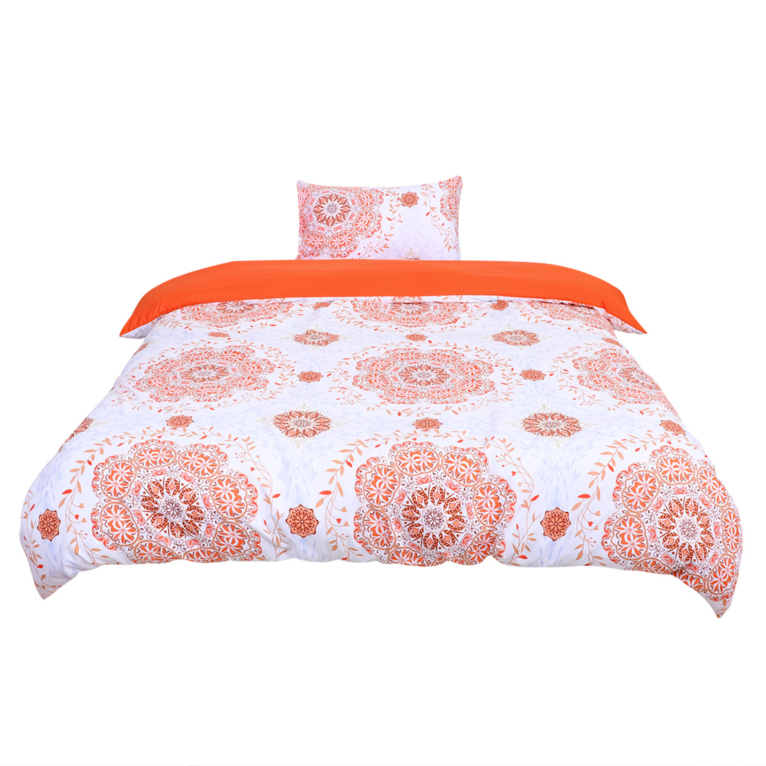 Twin All-season Duvet Cover Sets Bohemian Orange, with 1 Pillow Case